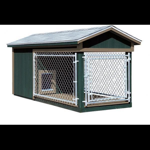 4x10 Dog Kennel - Green