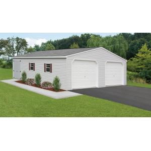 24'x32' Double Wide Garage - Gray