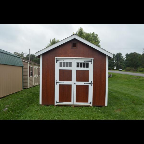 New England Classic Shed - Red with White Trim