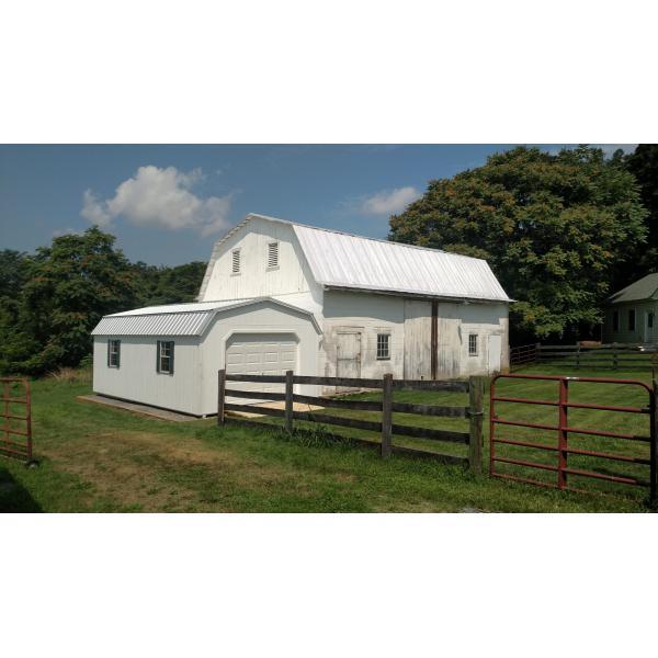 14x28 Super Barn Garage - White