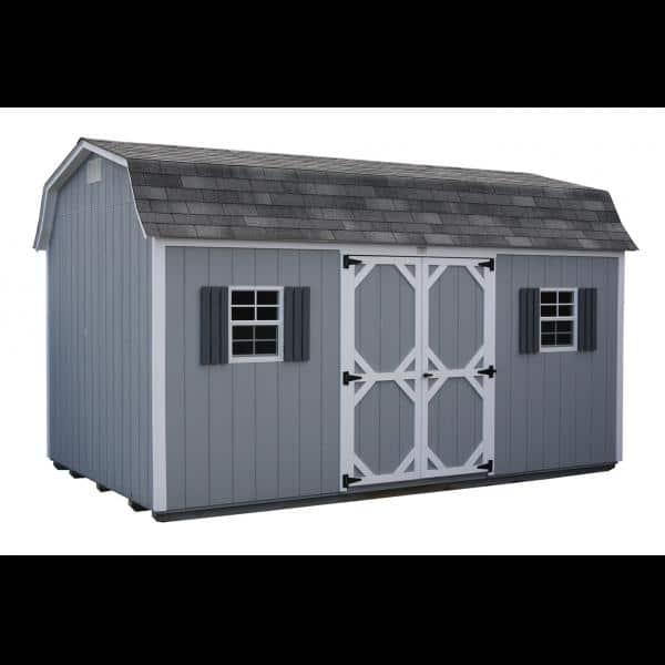 10x16 Super Barn - Blue with White Trim