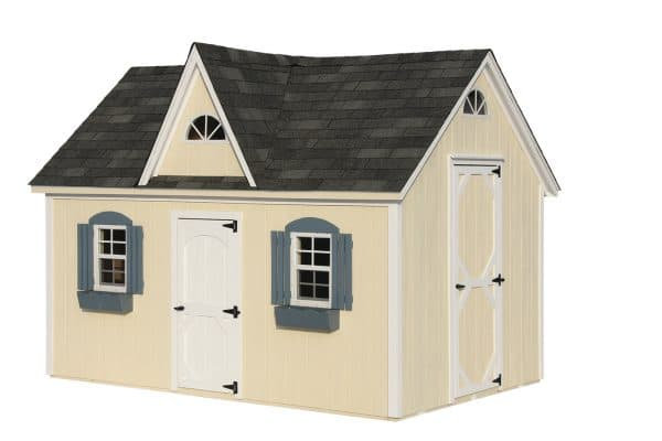 Victorian Playhouse - Ivory with White Trim