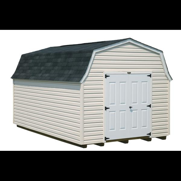 10x16 High Wall Mini Barn - Beige