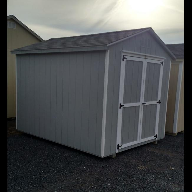 8x10 Freestone Workshop - Gray with White Trim