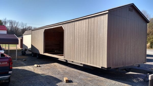 A- Frame Run In Shed - Brown
