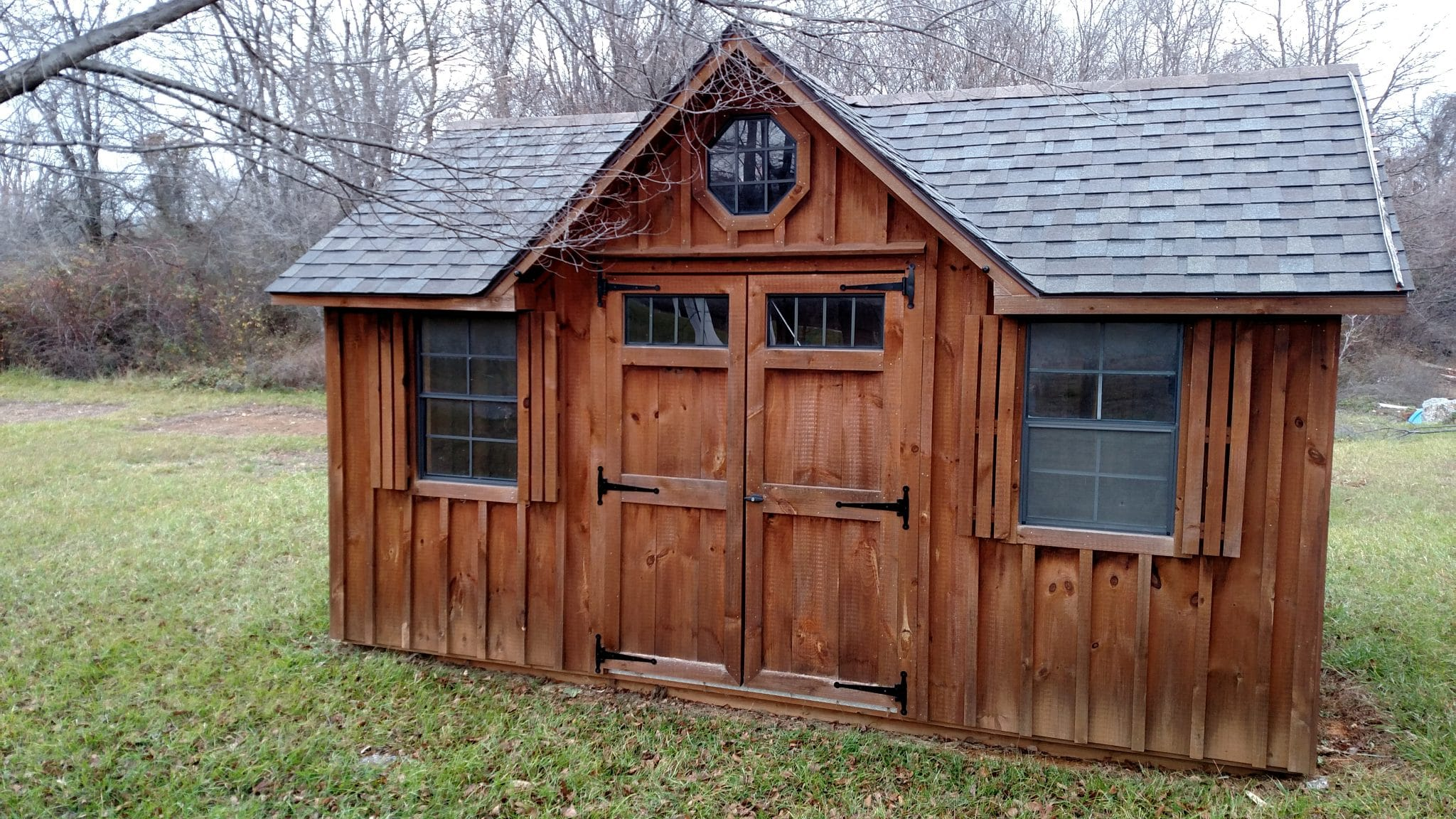 Wooden Victorian Shed - Brown