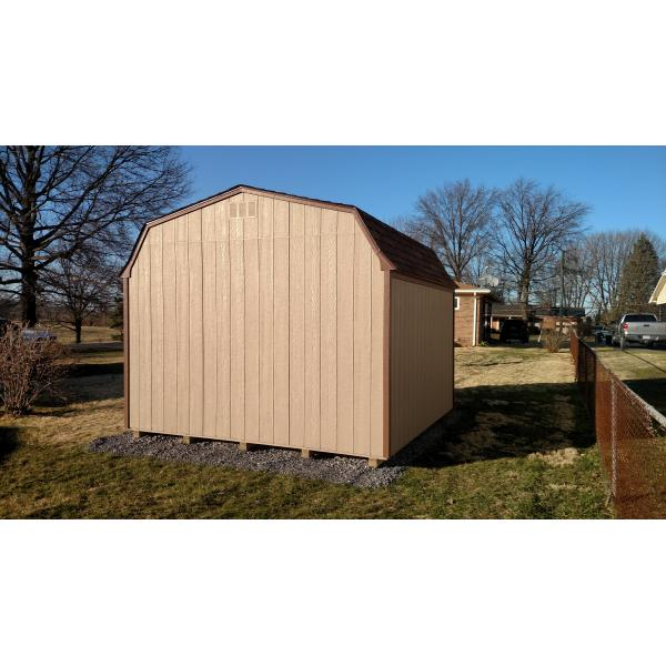 12x14 High Wall Barn - Brown